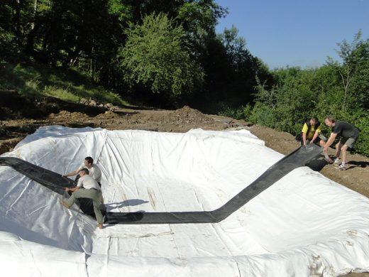 bassin étang création sécurité incendie